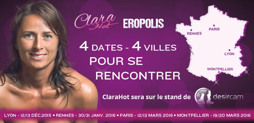 Clarahot au salon de l 39 rotisme for Salon de l erotisme lyon